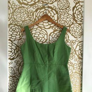 J Crew Bright Green Sleeveless Scoop Neck Dress